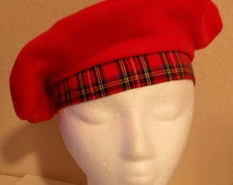 Girl's Red Flannel Beret