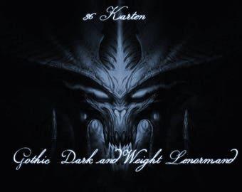 Gothic dark & weight Lenormand cards 2017