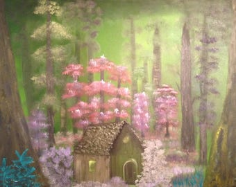 Secluded Forest oil painting