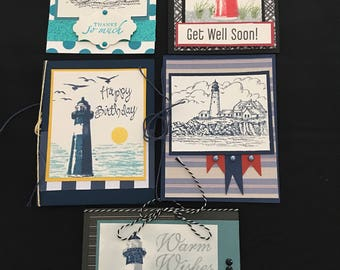 Lighthouse Greeting Cards (Set of 5) Group D