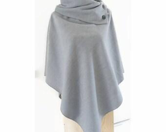 Light grey poncho cape