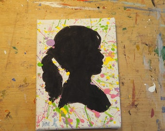 abstract silhouette girl