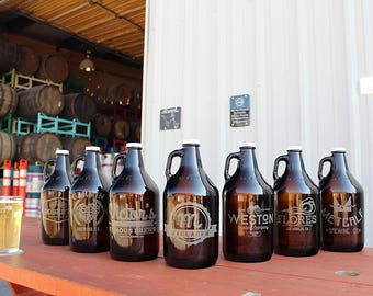 Personalized Engraved Beer Growler / Groomsmen Gifts / gift for dad / gift for husband / gift for brother / gift for boyfriend