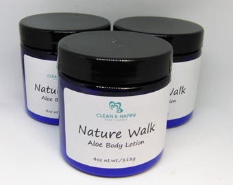 """Fresh Aloe """"Nature Walk"""" body lotion by Clean & Happy (1 jar of body lotion)"""