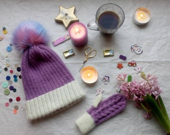 winter hand made hat