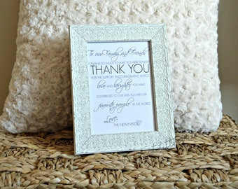 Custom Wedding Thank You Sign, Digital File