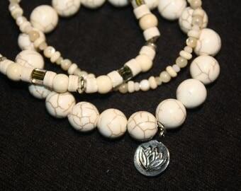White Stone Stretch Bracelets #505