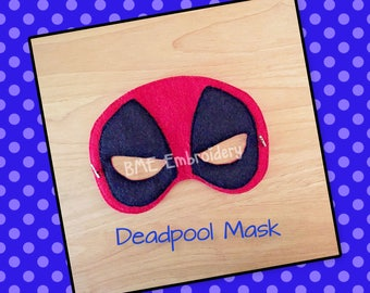 Deadpool Mask-Halloween Mask/Costume-Dress Up-Pretend Play-Child's Imaginary Play- Birthday Party Favor-Theme Parties-Deadpool-Photo Prop