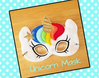 Unicorn Felt Mask- Child's Dress Up and Imaginary Play- Birthday Party Favor-Photo Shoot-Pretend Play-Theme Party