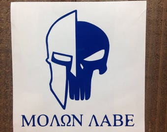 Molon Labe Punisher Come and Take Vinyl Decal
