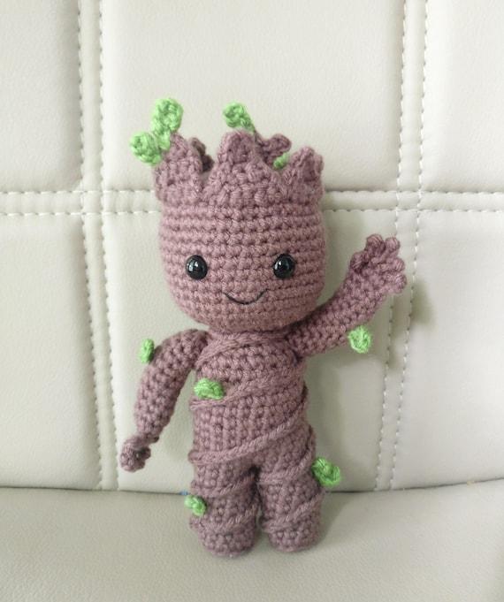 Amigurumi Patterns Groot : Pattern baby groot vol amigurumi crochet