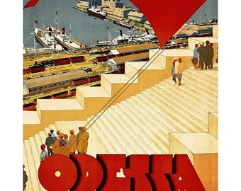 -Tourism in Odessa - 1930 - poster print art gallery