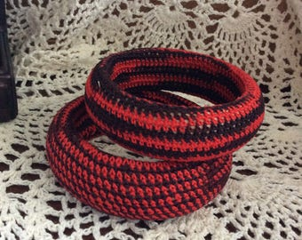 Mummy and me crochet bangle set