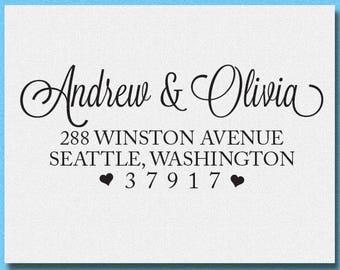 Return Address Stamp, Address Stamp, Personalized Address Stamp, Self Inking Return Address Stamp, Wedding Return Address Stamp