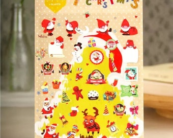 Daisyland 'Merry Christmas' Sticker, Scrapbooking, Decoration, Planner, Diary, Journal Stickers, Santa Stickers, Christmas Sticker