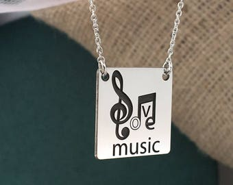 Sterling Silver 925, I love music, music lovers, special gift