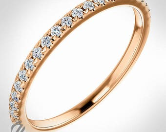 14K Rose Gold Diamond Wedding Band Engagement Ring Wedding Ring Bridal Ring