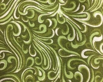 180474 Green  swirls