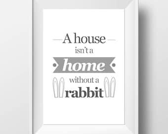 Rabbit Lover Gift - Rabbit Decor - Rabbit Owner - Rabbit Home Decor - Home Decor Print - Rabbit Home Print - Rabbit Owner Decor - Bunny Mum