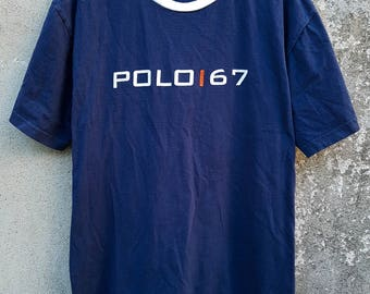 Vintage Polo Ralph Lauren Polo 67 Spell Out Tshirt