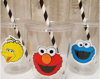 Set of 24 - Sesame Street Party Cups, Elmo Party Cups, Cookie Monster Party Cups