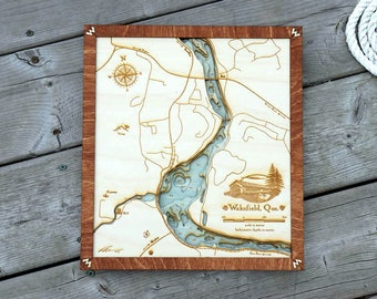 Wakefield / Gatineau River Wood Map