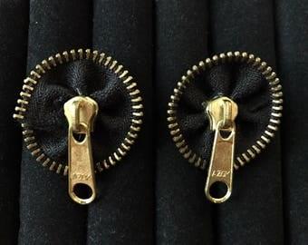 Zipper Art Deco Earrings