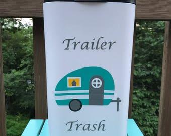 Trailer Trash Can Garbage Can - Camping Gift - Glamping