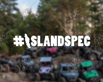 DECAL – [IslandSpec] - Vinyl Decal, Bumper Sticker, Jeep Sticker, Offroad Sticker, Car Decal, Jeep Decal, Wrangler Decal