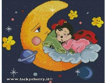 Cross stitch patterns Ladybugs Lacky and Berry ©