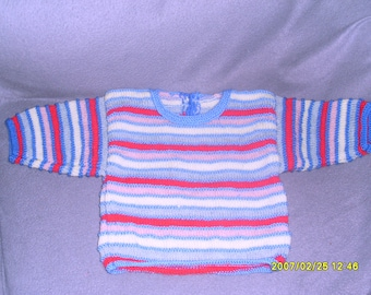 6 month striped sweater