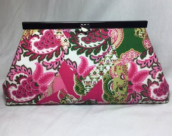 Pink & Green Clutch