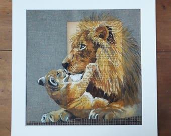 LION.05. 30X30cm