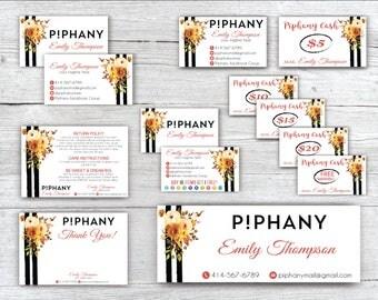 SALE!! Piphany Marketing Kit, Piphany Marketing Bundle, PERSONALIZED Piphany Marketing Kit, Watercolor PIPHANY card, Printable Card TP09