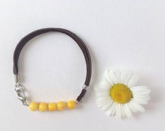 River shell bracelet, Leather bracelet, Leather jewelry, Natural bracelet, Jewelry, Boho jewelry, Beaded bracelet, Hippie jewelry, Bracelet