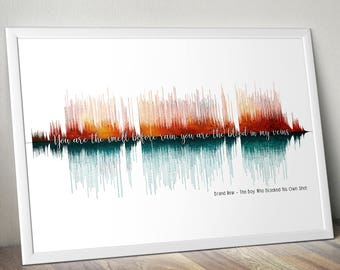 Brand New Deja Entendu The Boy Who Blocked His Own Shot Soundwave Poster Gift Audiophile