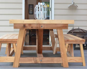 Cedar Farmhouse Table