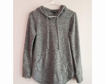 Gray Oversized Pull-Over Hoodie
