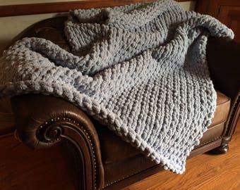 Chunky Yarn Blanket- Full Size