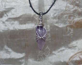 Amethyst w/ silver wire