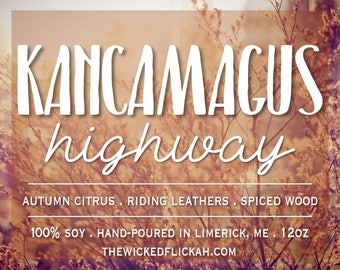 Kancamagus Highway {12oz Wooden Wick Soy Candle}