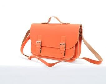 Ownstuff leather satchel, shoulder bag OS034 Brick
