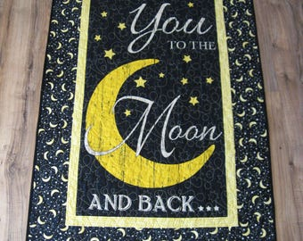 To The Moon And Back Panel, Love You To The Moon and Back, To The Moon and Back Wall-Hanging.