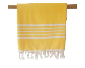 SIA Yellow Turkish Towel Peshtemal