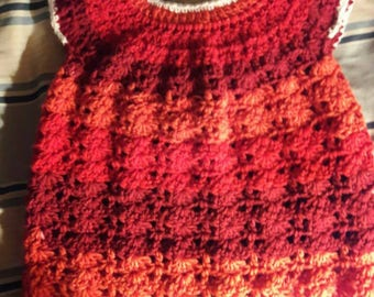 Crochet Baby Dress 0-6 mos