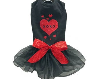 XOXO Valentine Dress for Small and Large Dogs