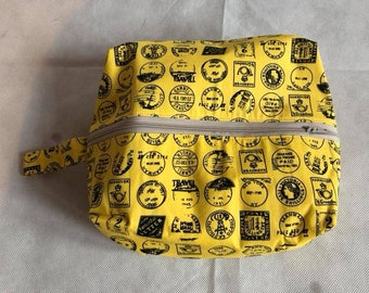 Travel Themed Toiletry Bag Handmade