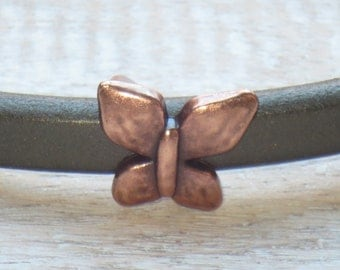 Regaliz Antique Copper Butterfly Spacer Bead, Spacer Bead, Slider Bead, Regaliz Spacer Bead