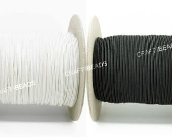 3MM Rayon Soutache Braid Cord String Beading Sewing Quilting Trimming Black & White - Made in USA!