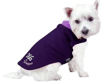 Dog Corduroy Purple Design Wrapper with Violet Polar Fleece Lining